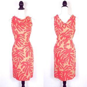 Donna Morgan Coral Linen Dress